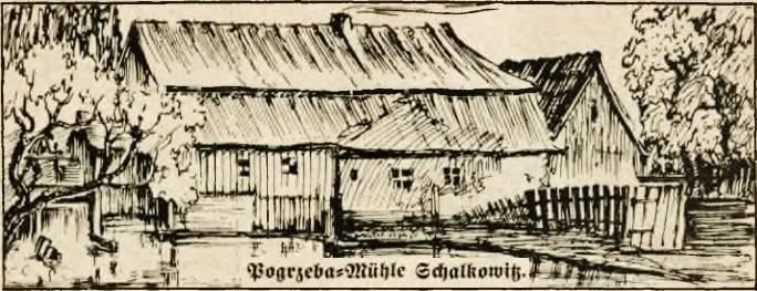 Młyn wodny Pogrzeby 1929 r. Stare Siolkowice