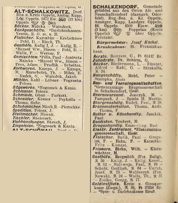 Foto. Książka adresowa, po lewej - z roku 1906, po prawej - z roku 1941.