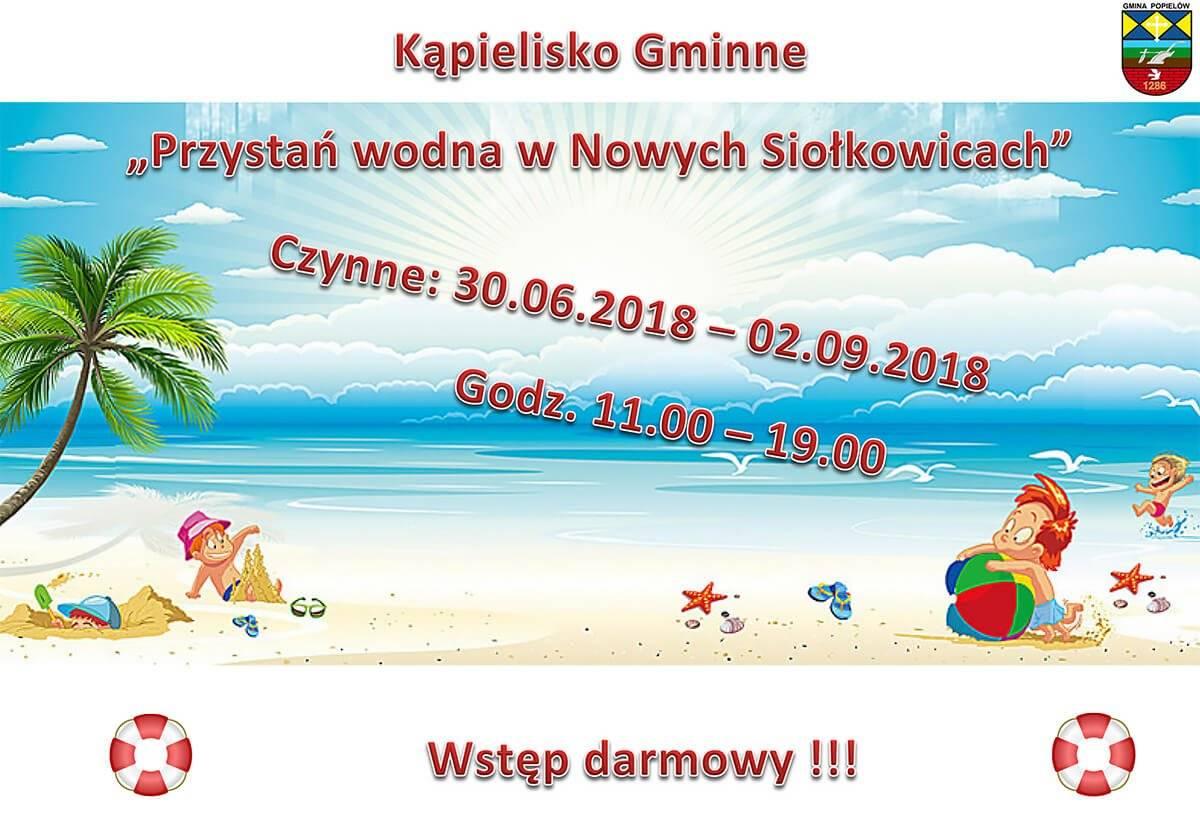 Od 30 czerwca rusza bezpłatne kąpielisko w Nowych Siołkowicach!