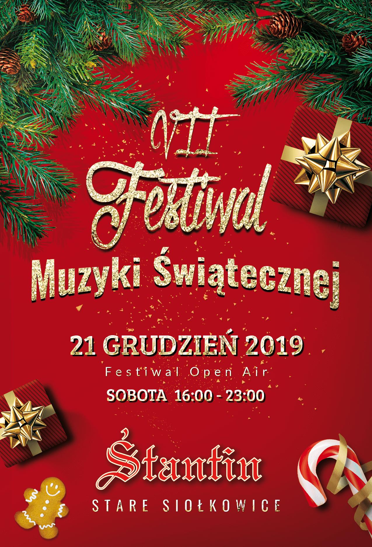 VII Festiwal Muzyki Świątecznej! Stare Siołkowice sobota 21.12.2019!