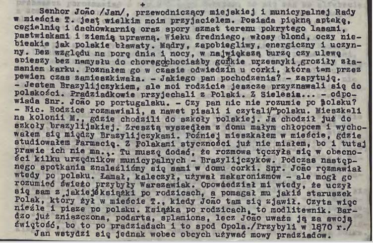 """Początki śląskiego osadnictwa w Brazylii (b) W. Breowicz - """"Moje dzieci"""""""