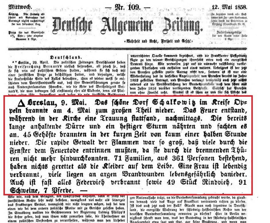 Deutsche Allgemaine Zeitung - 12. 05. 58 r.