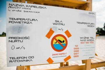 Zakaz kąpieli na kąpielisku w Nowych Siołkowicach