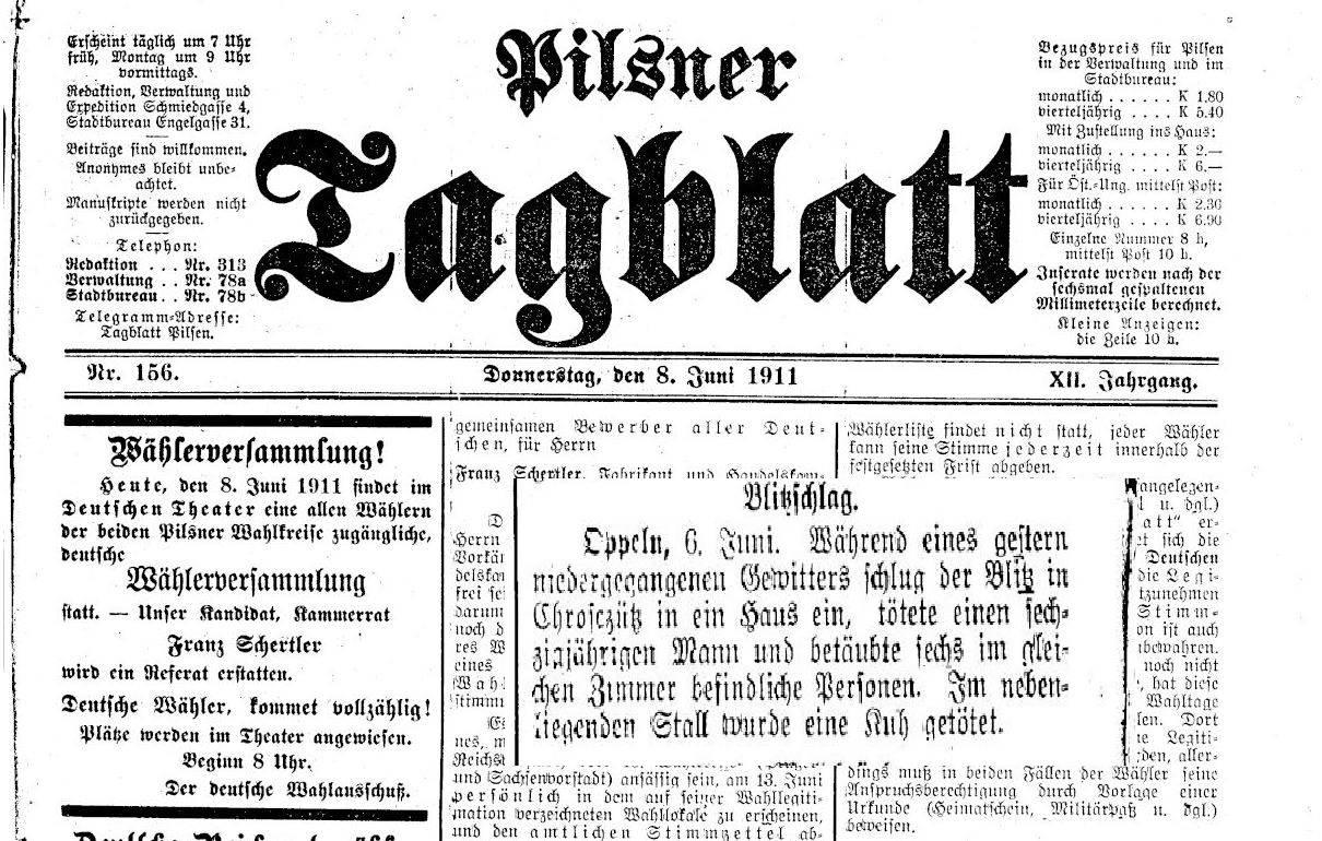 Pilsner-Tageblatt-1911