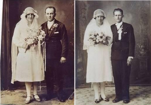 Franciszka i Bronisława Bieniara (zdj. ślubne)