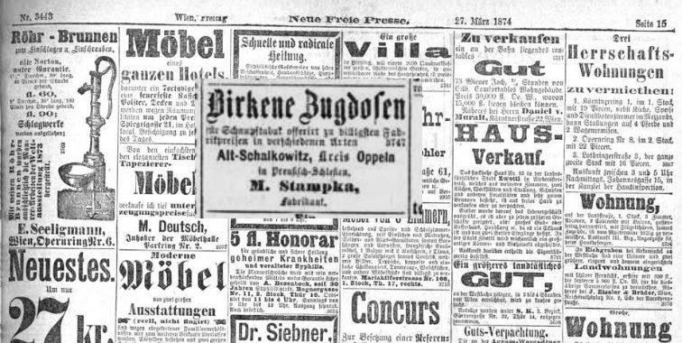 Neue-Freie-Presse...27-03-1874 r.