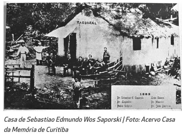 Przed domem Wosia Saporskiego w 1883 r.