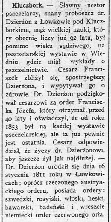 Dziennik Chicagoski - 29 kwiecień 1903 r