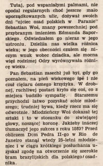 """Fragment artykułu """"W domku pod palmami - z wizytą u Saporskiego."""""""