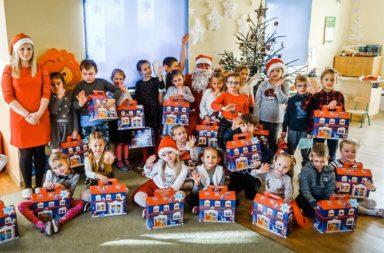 Wizyta Świętego Mikołaja w przedszkolu w Siołkowicach