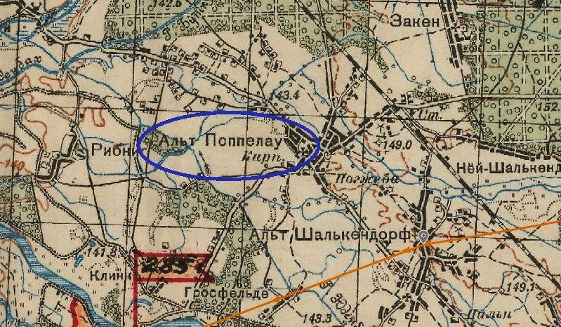 Radziecka mapa sztabowa - rejon Popielowa i Starych Siołkowic