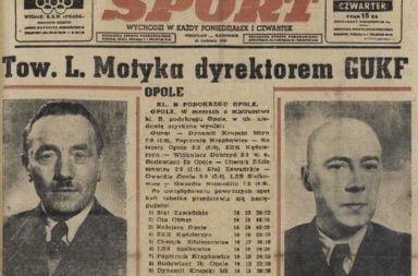 Sport - Wrocław, Katowice - 28.04.1949 r.