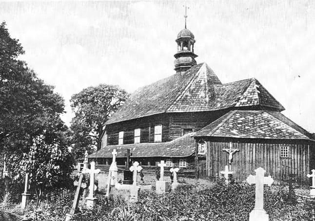 Kościół św. Rocha w Dobrzeniu Wielkim, lata 20 XX wieku.