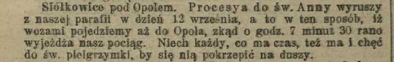 Posłaniec Niedzielny dla Dyecezyi Wrocławskiej. 11-09-1904 r.